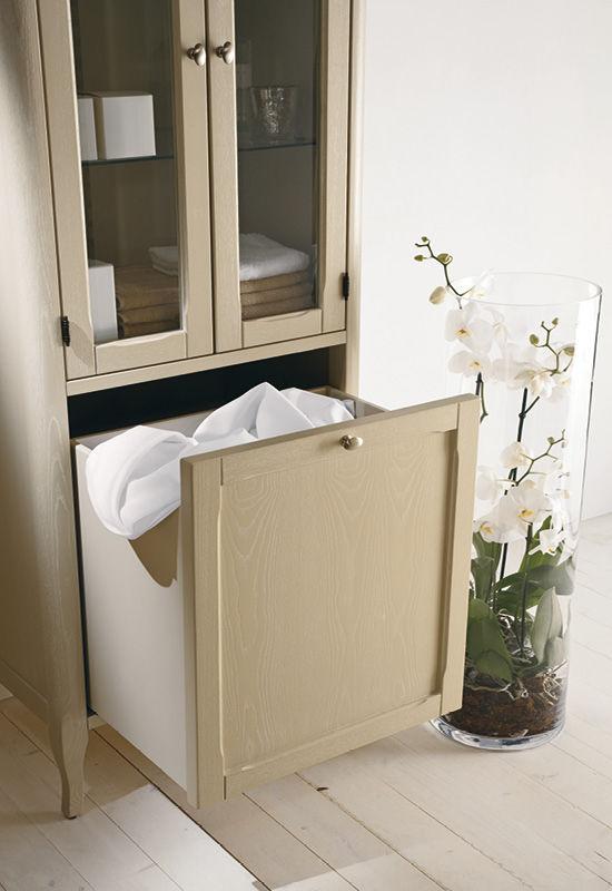 Mobile da bagno classico / in legno / con cassetti - LUDOVICA - EBAN