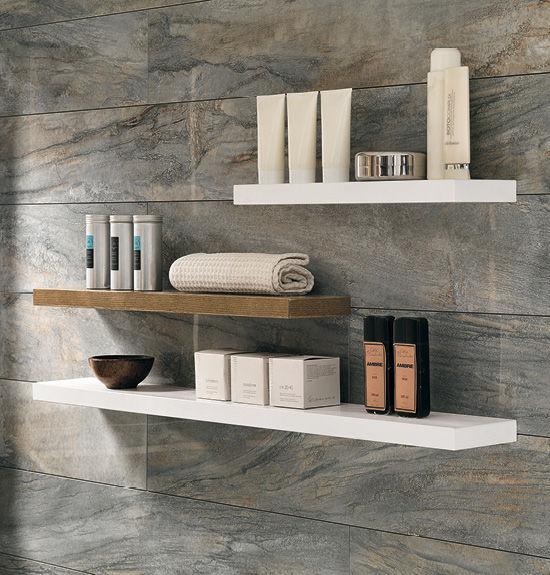 Scaffale a muro / moderno / in legno massiccio / da bagno - EBAN