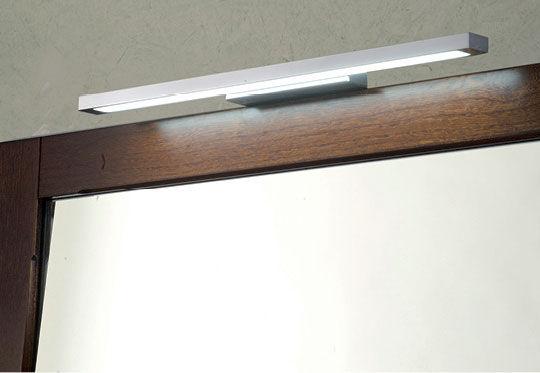 Applique moderna da bagno in metallo cromato led iris eban