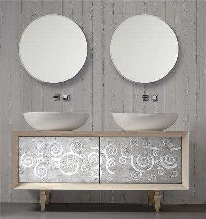 Mobile lavabo doppio / da appoggio / in ceramica / moderno - TOSCA ...
