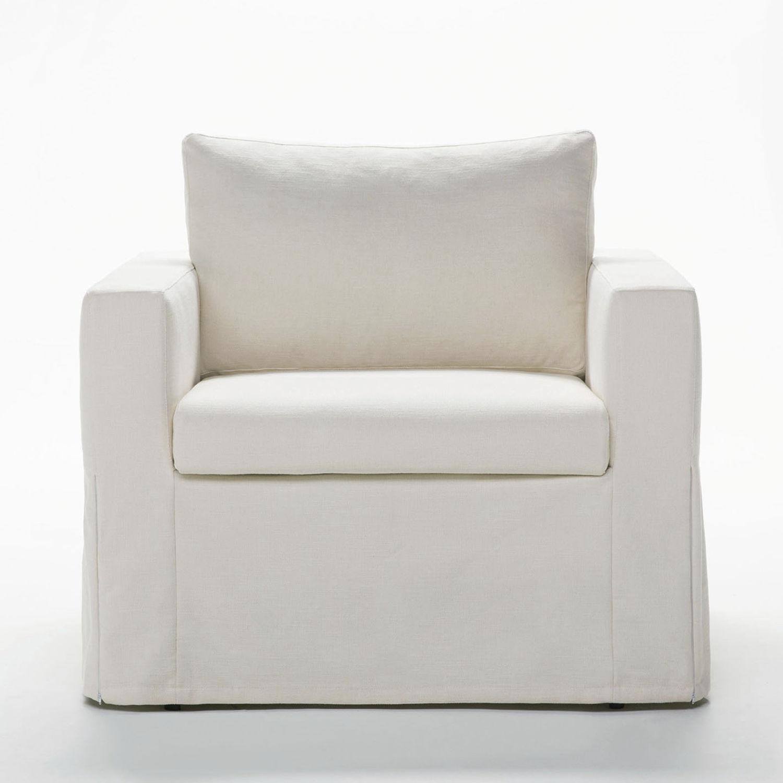 Poltrona letto / moderna / in tessuto / in pelle - DAFNE - BERTO ...