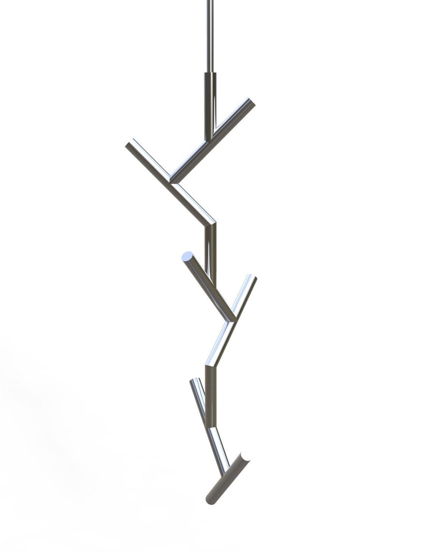 Appendiabiti Sospesi Design.Appendiabiti Da Soffitto Moderno In Acciaio Inox Verniciato