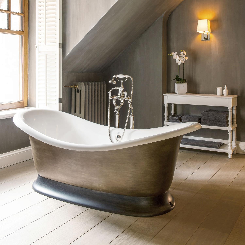 vasca da bagno ad isola ovale in composito in pietra bw