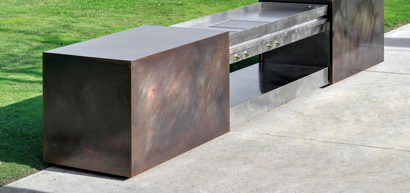 Cucina moderna / in acciaio / da esterno - AURA by Workingproject ...