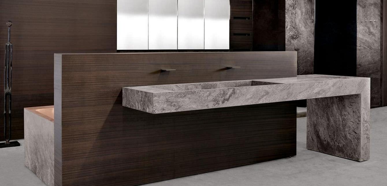bagno moderno / in teak / in pietra - trama by mario mazzer ... - Bagni In Pietra Moderni