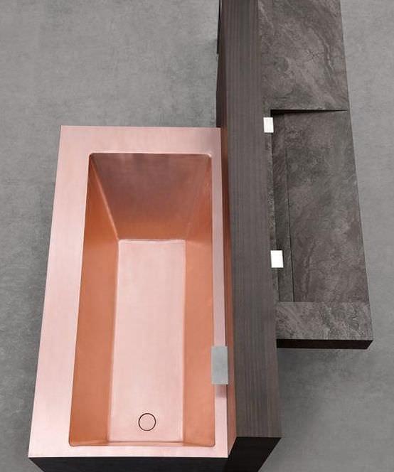 Vasca da bagno da appoggio / in rame   shinÈ by mario mazzer ...