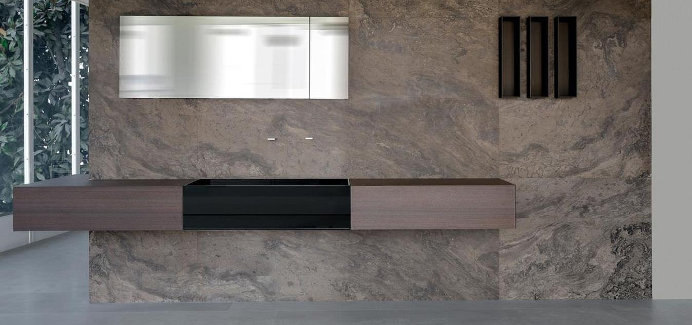 bagno moderno / in teak / in pietra - cuma by silvano bonetti ... - Bagni In Pietra Moderni