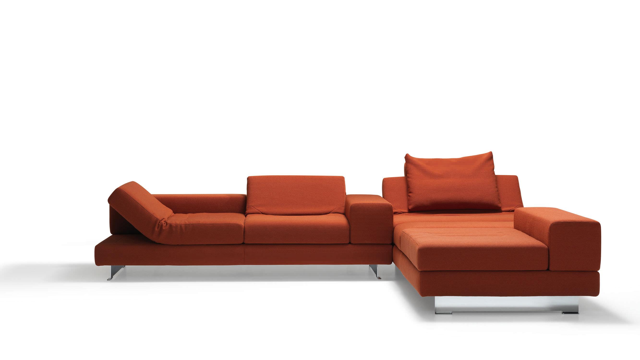 divano design minimalista / in tessuto / 3 posti / con schienale ... - Pelle Dangolo Divano Minimalista