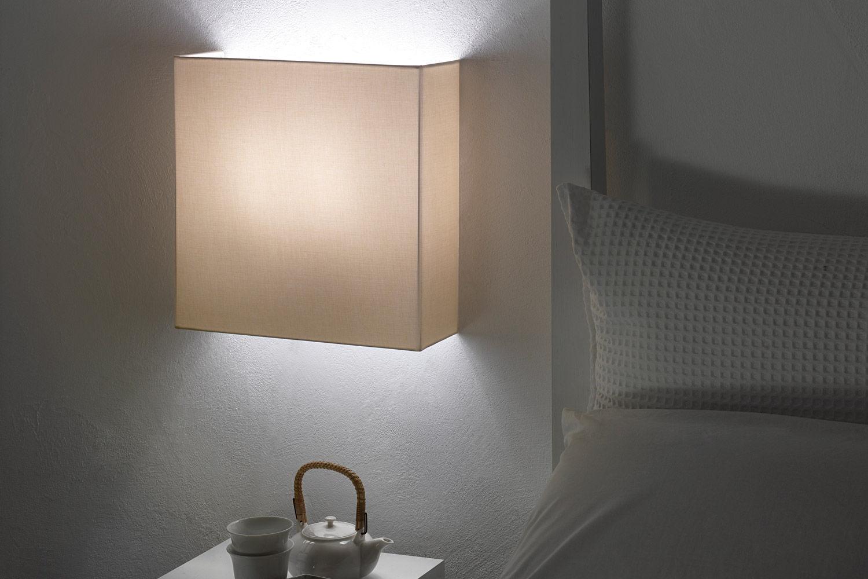 Applique moderna in cotone led quadrata quadrato modo luce