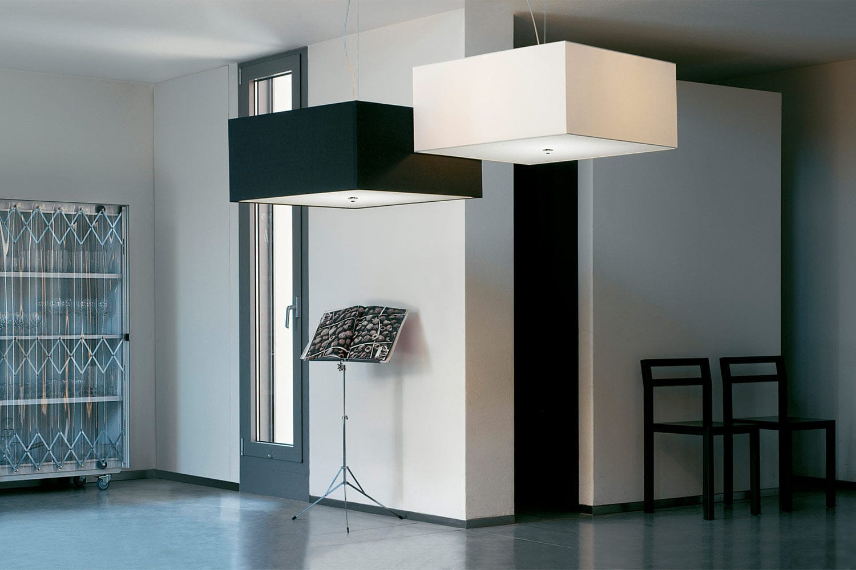 Plafoniera Led Slim Quadrata : Plafoniera moderna quadrata in tessuto led quadrato modo