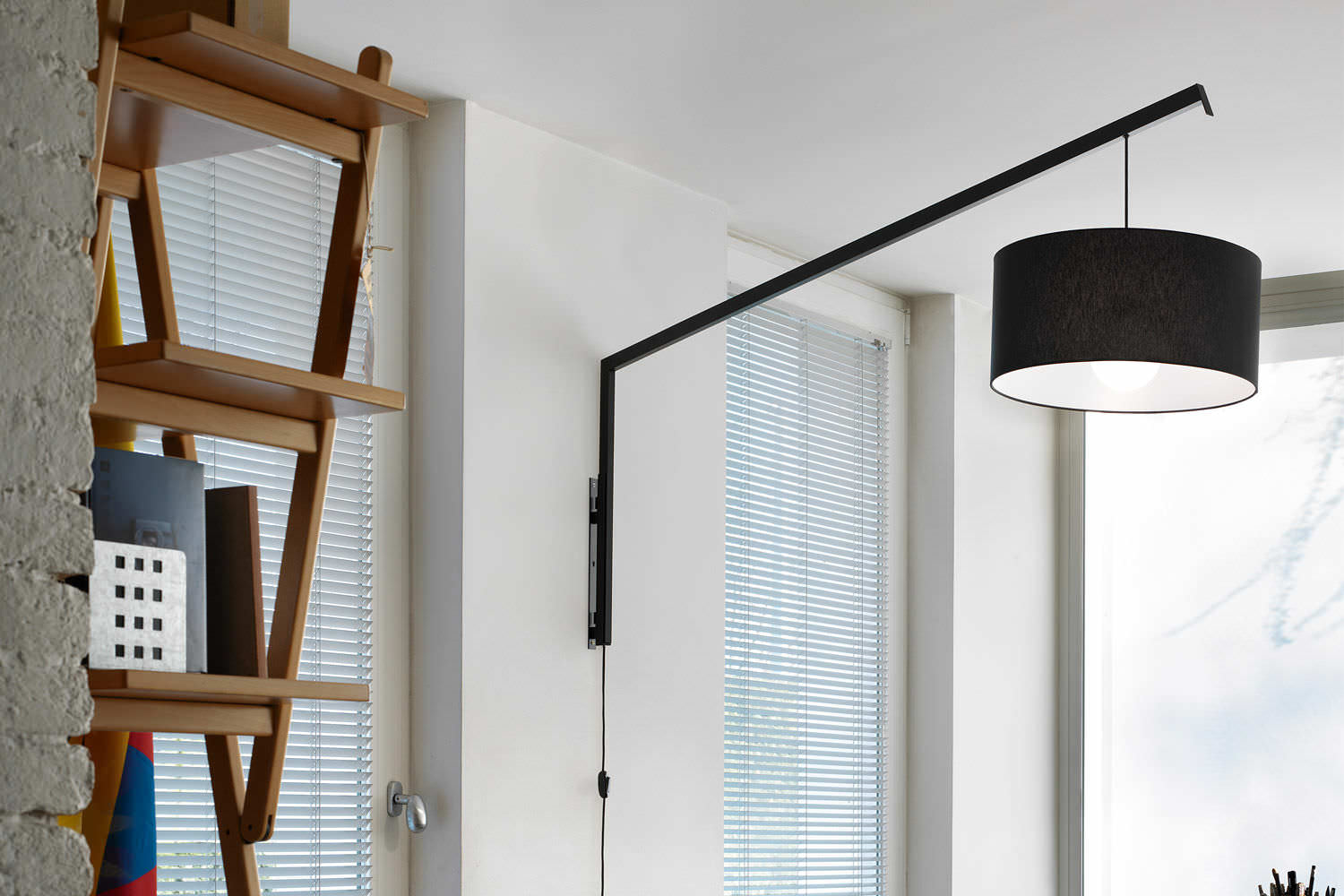 Applique moderna in metallo in cotone led angelica by