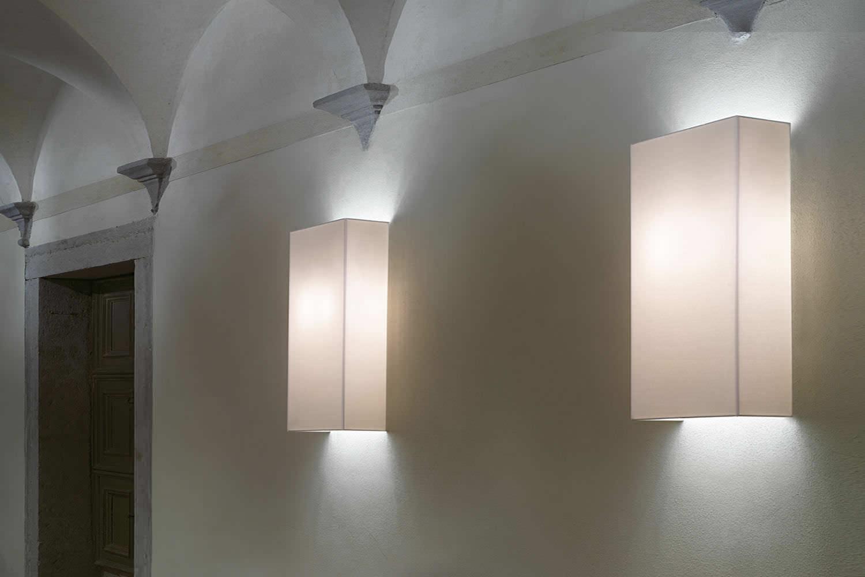Applique moderna in cotone led a lampada fluorescente