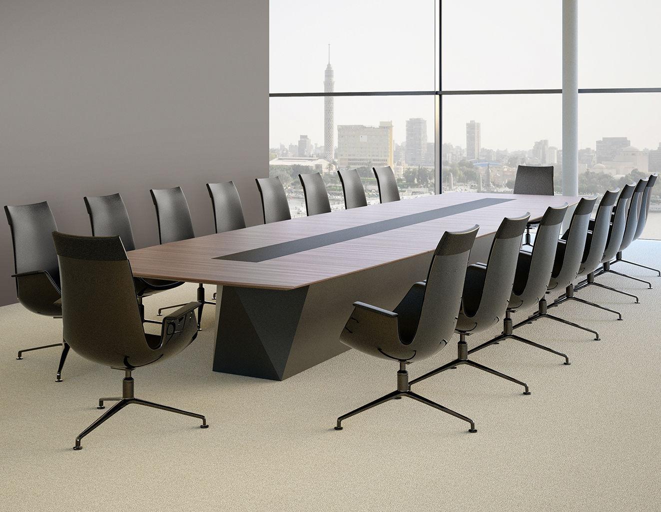 Tavolo da riunione moderno / in legno / rettangolare - SCALE-MEDIA ...
