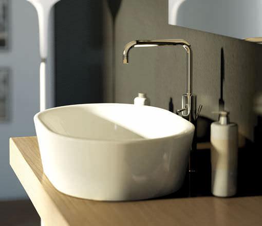 miscelatore per lavabo in metallo cromato da bagno 1 foro iq by matteo
