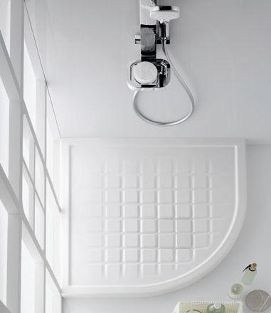 Piatto doccia d'angolo / in ceramica / con sifone ultrapiatto ...