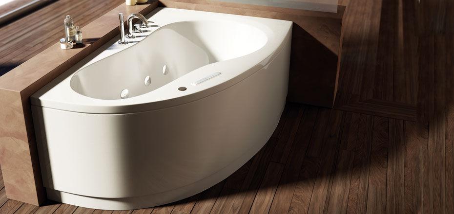 Vasca da bagno d\'angolo / in acrilico / idromassaggio - AQUA by ...