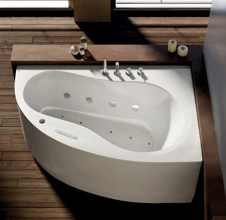 Vasca da bagno d'angolo / in acrilico / idromassaggio - AQUA by ...