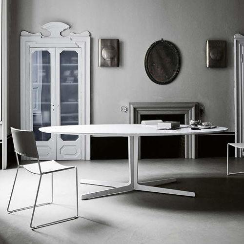 Tavolo moderno / in metallo / ovale / bianco - SPLIT by Claesson ...