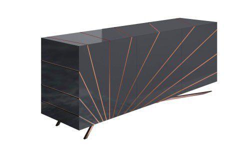 Credenza Moderna Grigia : Credenza moderna in legno laccato grigia solaris riflessi