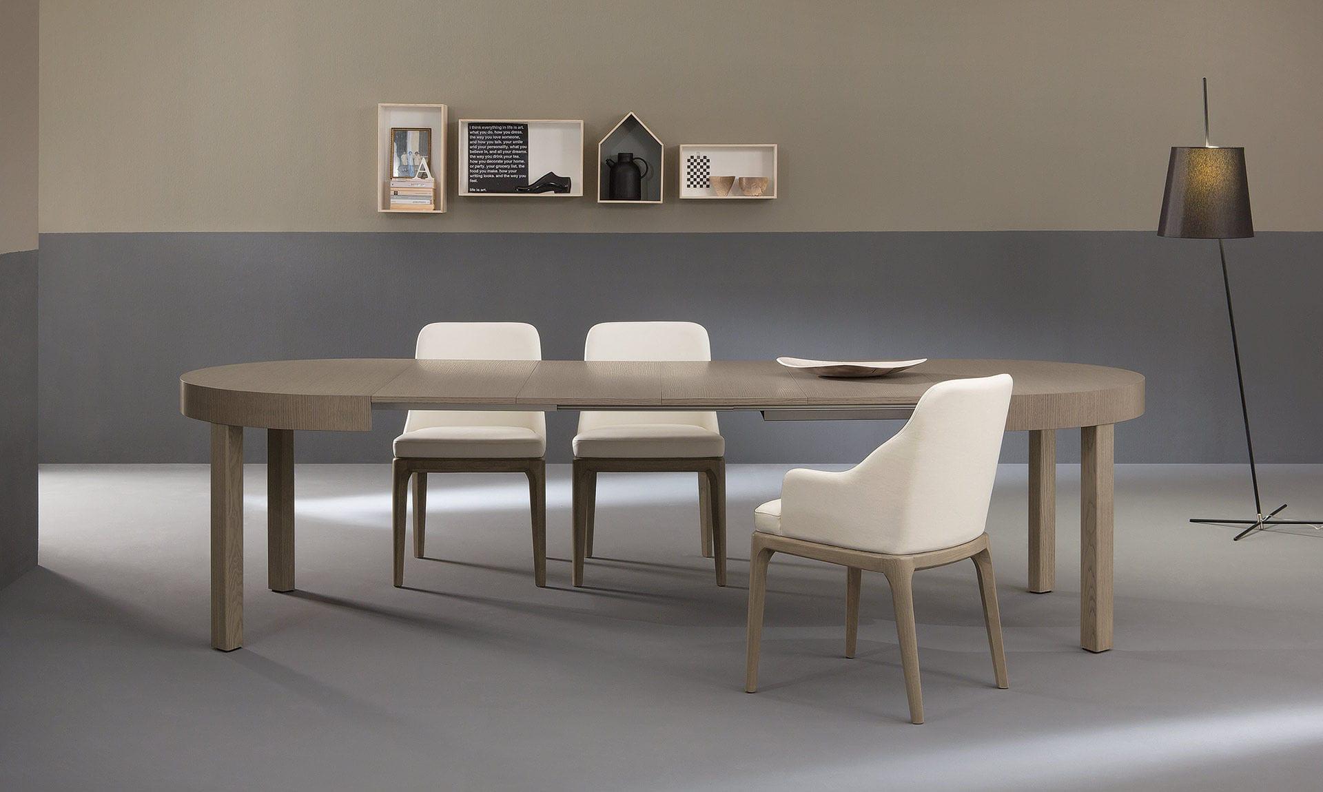 Tavolo da pranzo moderno / in legno / ovale / allungabile - ZED ...