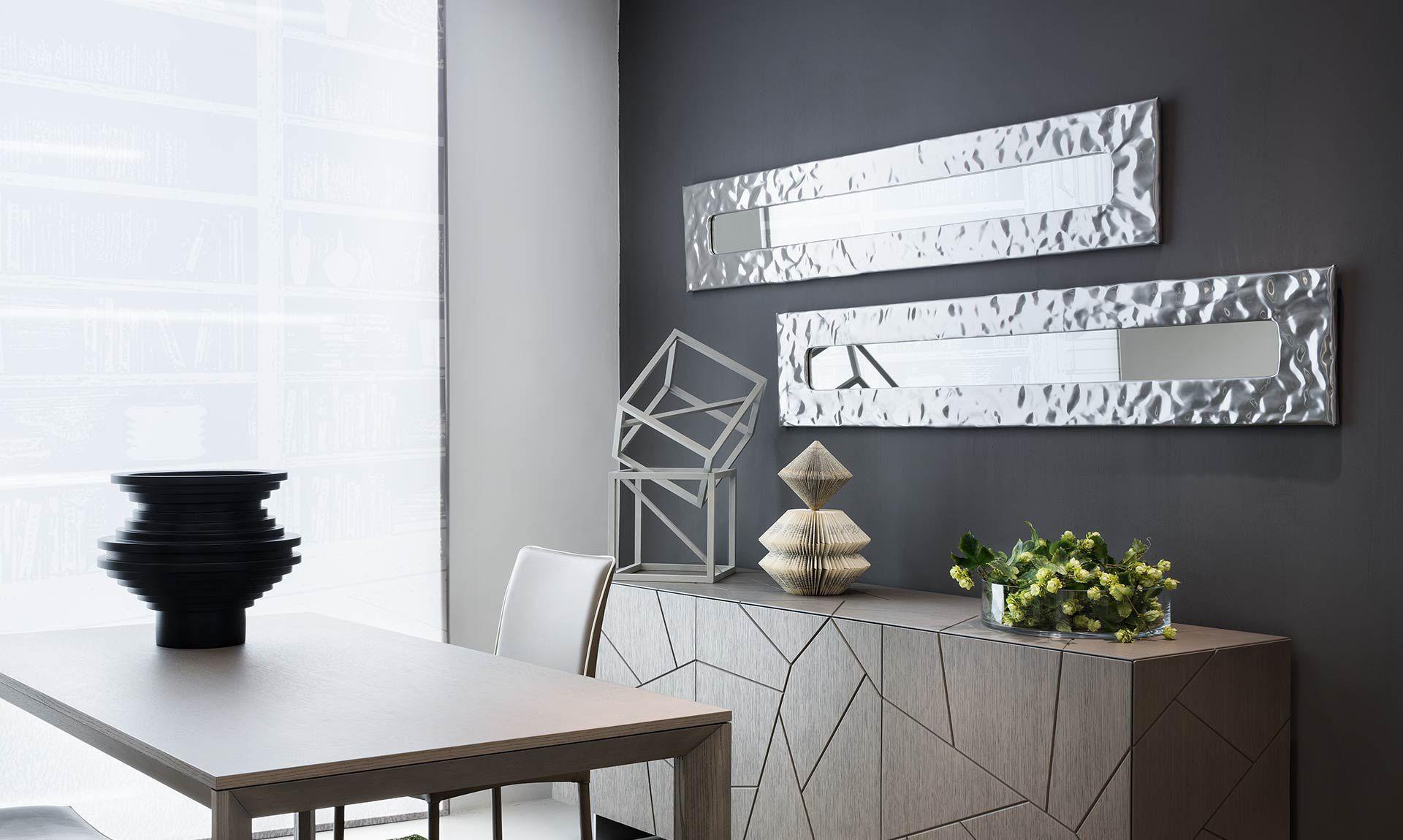 Specchio a muro moderno rettangolare tondo mito riflessi