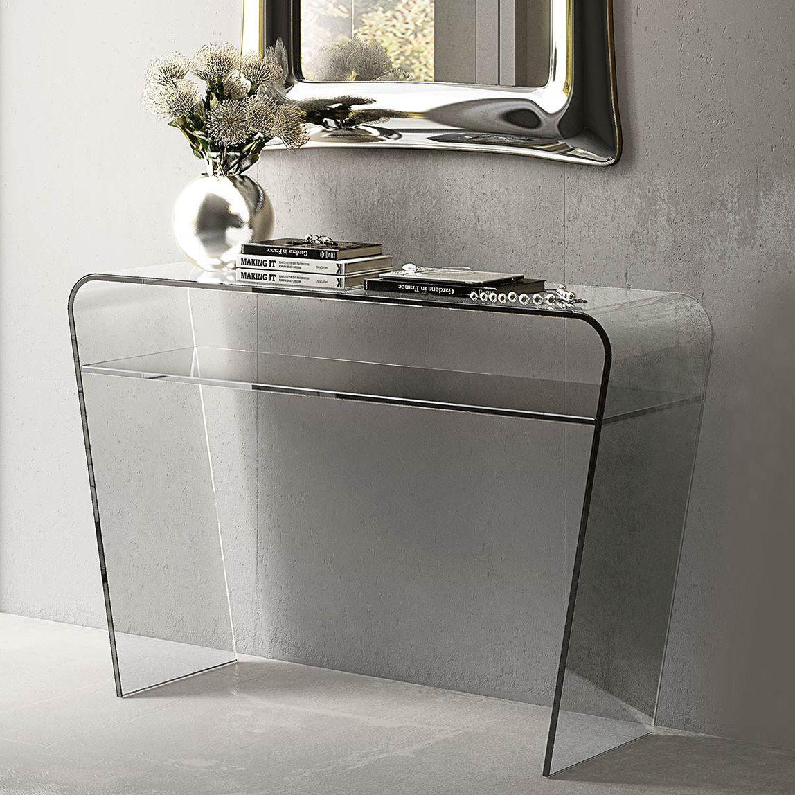 Consolle moderna / in vetro / in vetro curvato / rettangolare ...