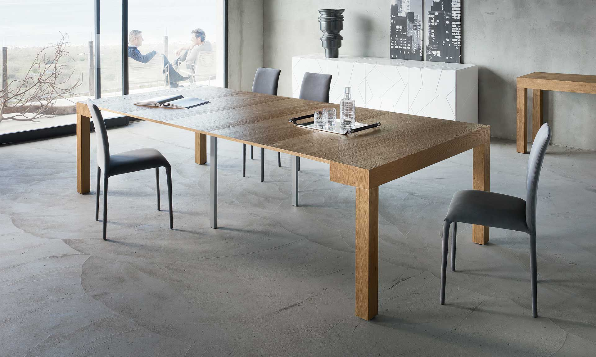 Consolle moderna / in legno / in alluminio / rettangolare - P300 ...
