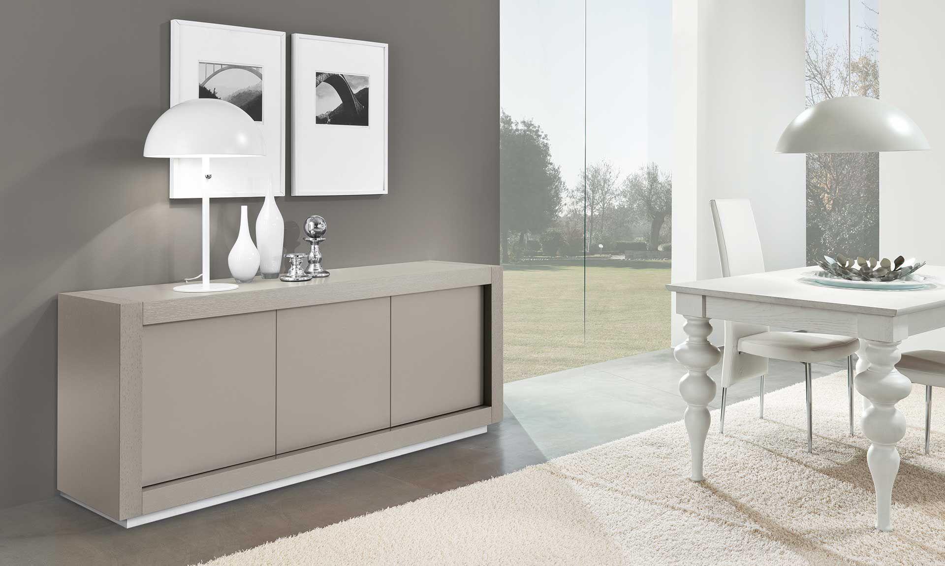 Credenza Moderna Tre Ante : Credenza sospesa moderna design salve nero bianco larghezza