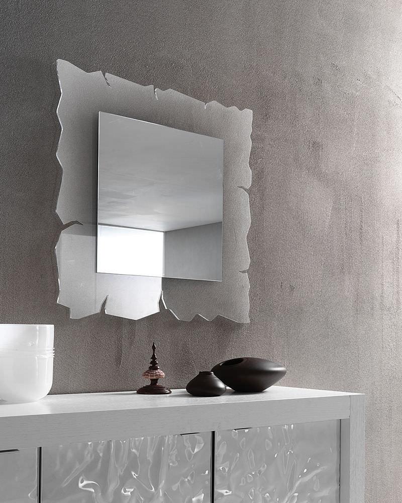 Specchio a muro / moderno / quadrato / in metacrilato - VISION ...