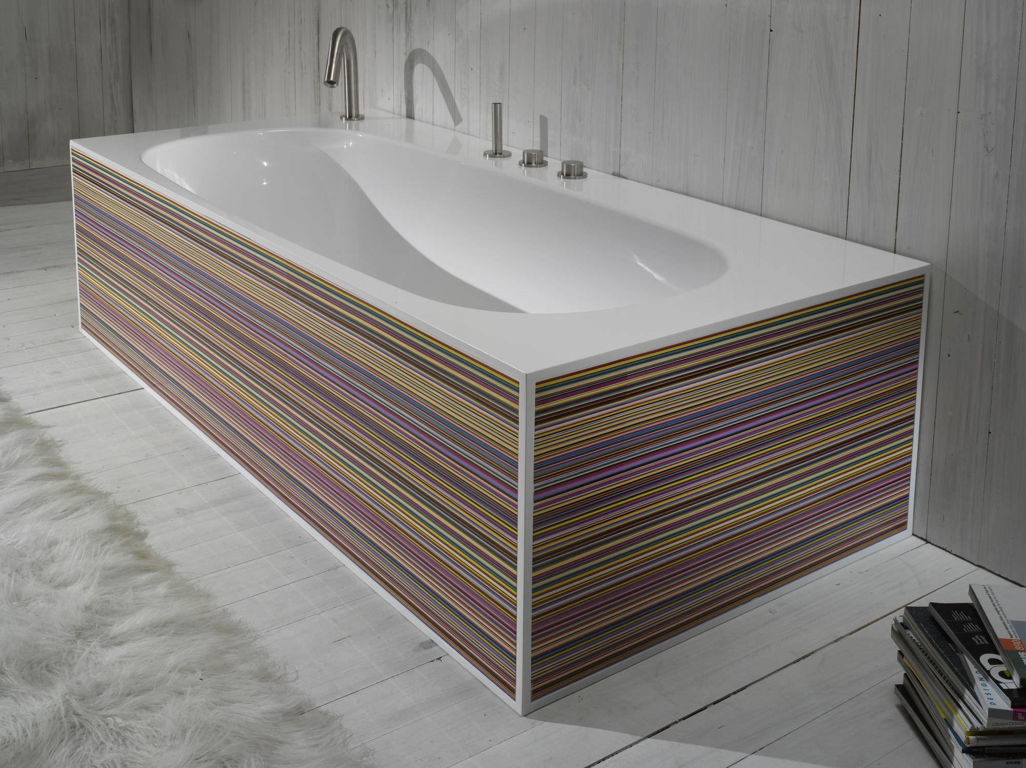 Vasca da bagno ad isola / in resina acrilica - COVER - A. e T. ITALIA