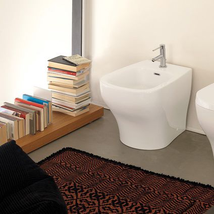 bidet in ceramica - fluida: 66220 by riccardo bertotti - newform - Ceramica Bagno Fluida Di Newform
