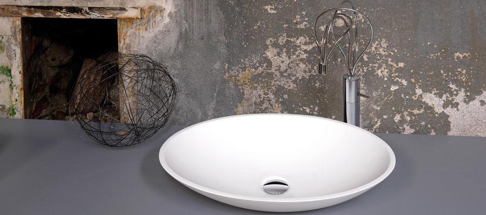 lavabo da appoggio / ovale / in cristalplant® / moderno - lavabi ... - Ceramica Bagno Fluida Di Newform