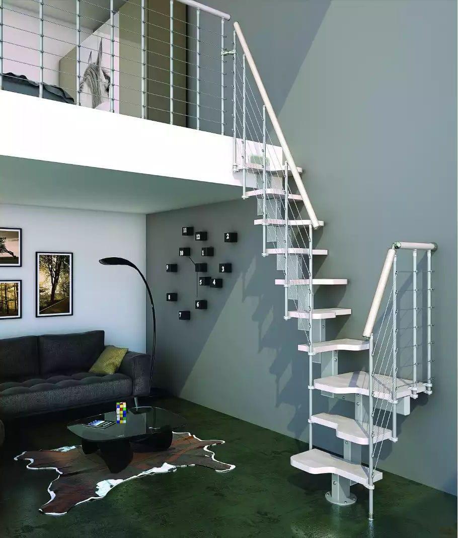 abbastanza Scala a L / con gradini in legno / con struttura in metallo  FH26