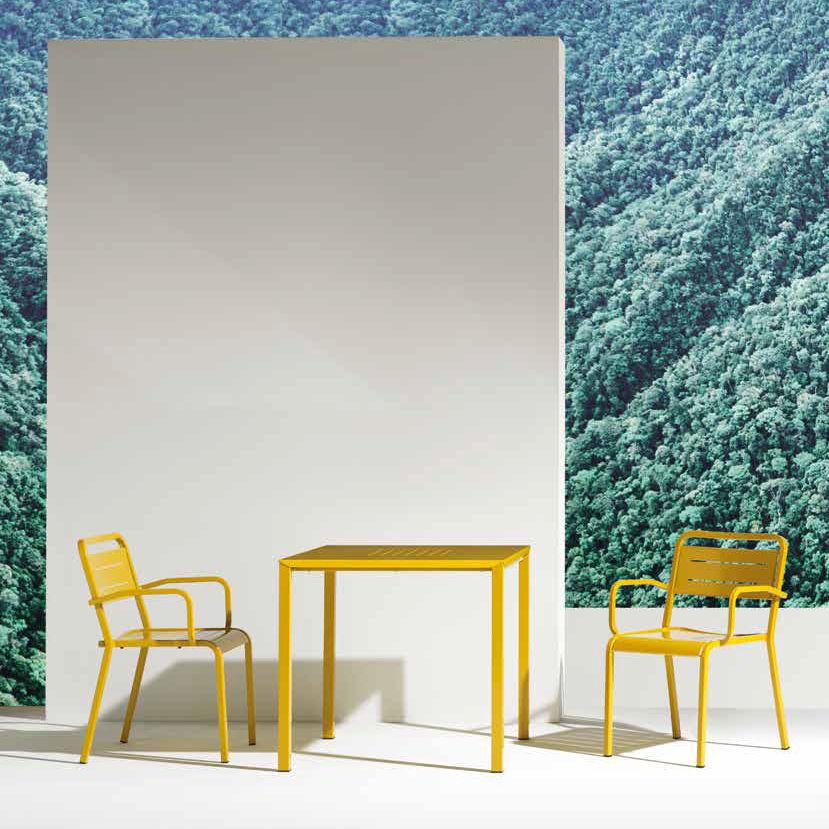 Tavoli Emu Da Esterno.Tavolo Moderno In Alluminio Quadrato Da Giardino Urban By