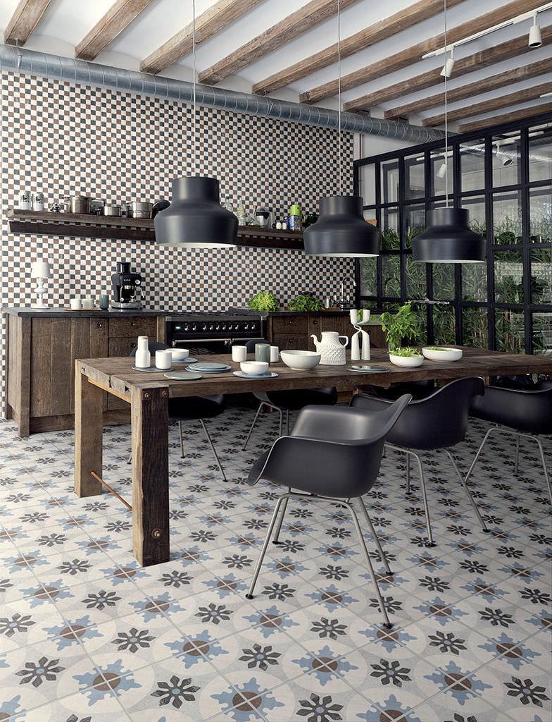 Piastrella da interno / da bagno / da cucina / da pavimento ...