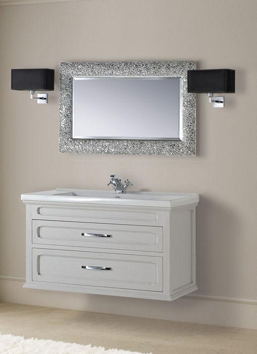 Mobile lavabo in legno / classico / con specchio - VELA - Mobili di ...