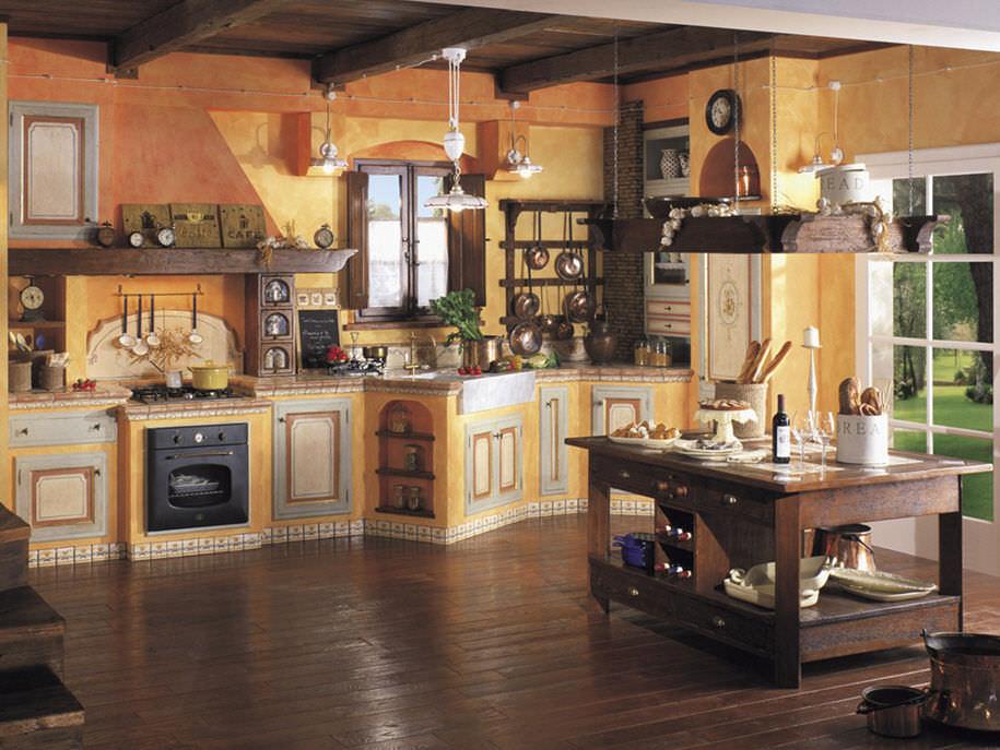 Cucina in stile / in legno massiccio / in legno - LA MURATURA ...