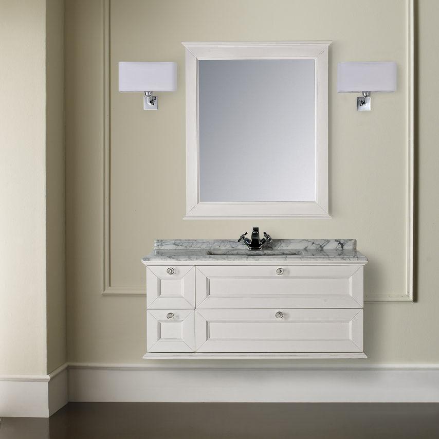 Mobile lavabo sospeso / in legno / classico / con specchio - APOLLO ...