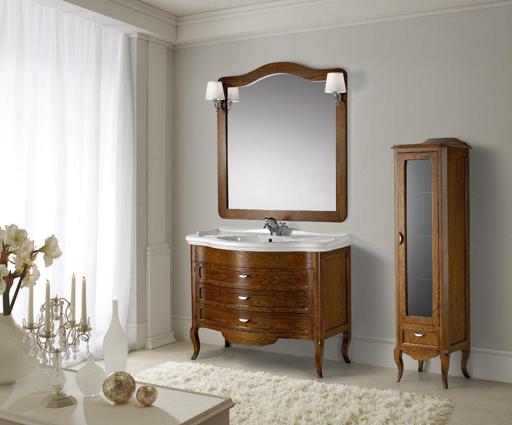 Mobile lavabo in legno / classico / con specchio - ANDROMEDA ...