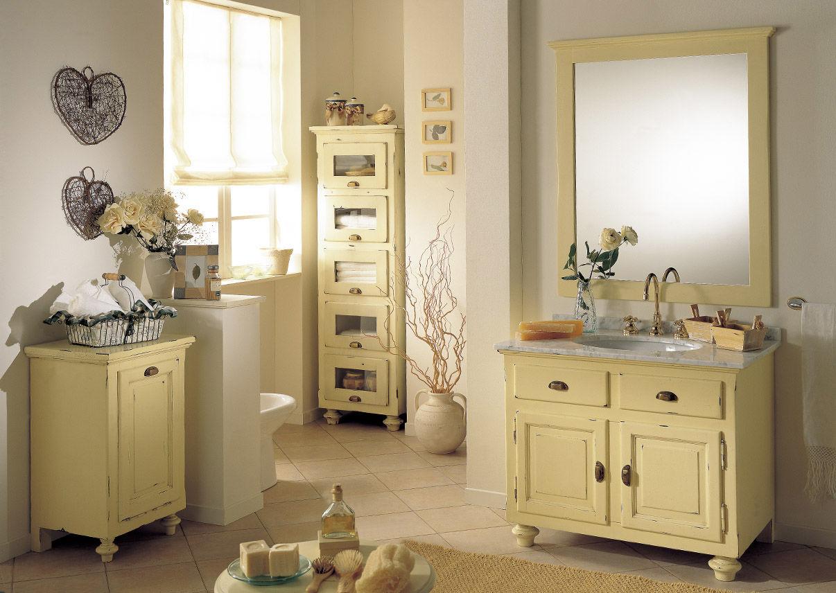 Mobile lavabo in legno / in stile / con specchio - LAMPEDUSA ...