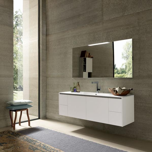 Mobile lavabo sospeso / in legno / moderno / con cassetti - TULLE ...