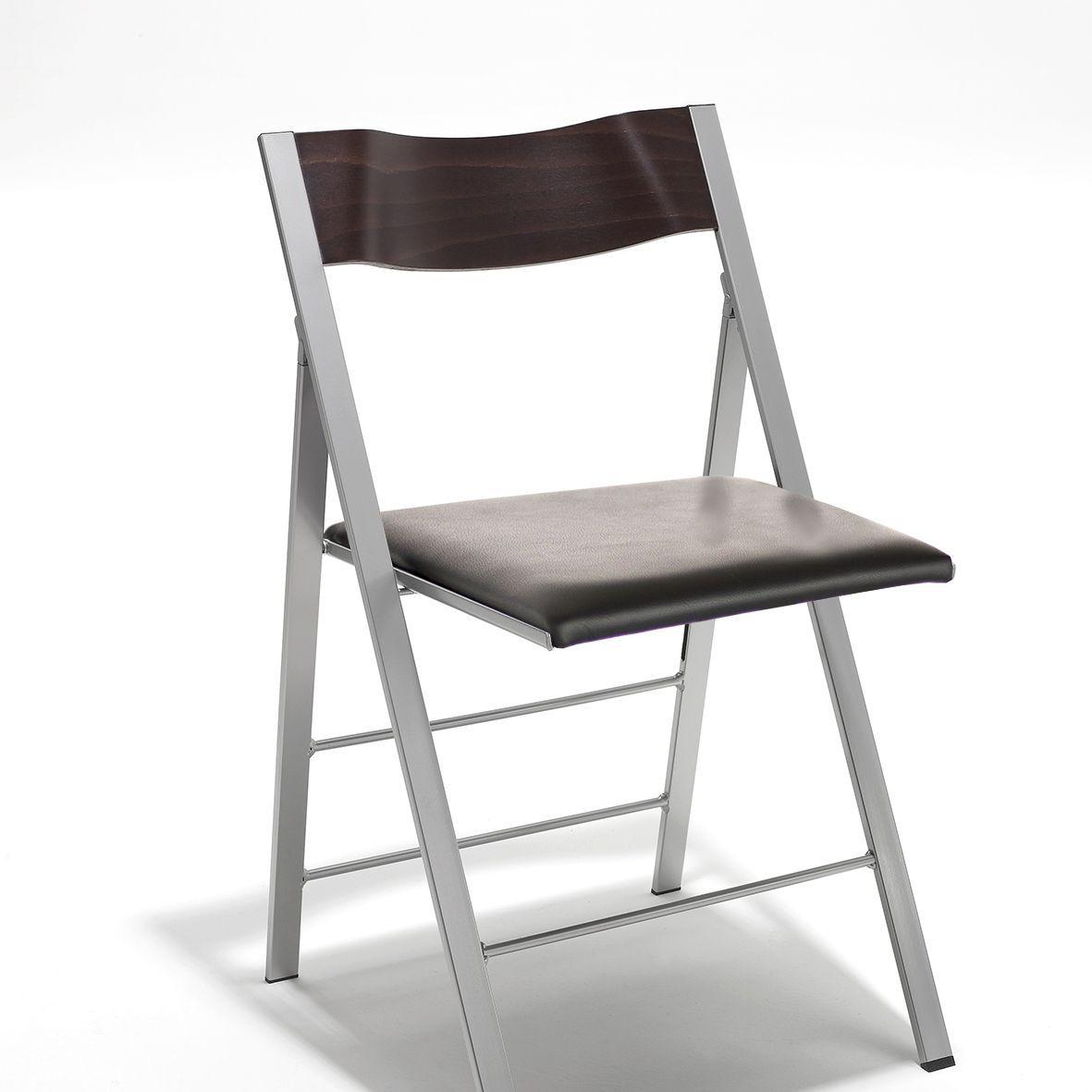 Sedia moderna / imbottita / pieghevole / in legno - POCKET FABRIC by ...