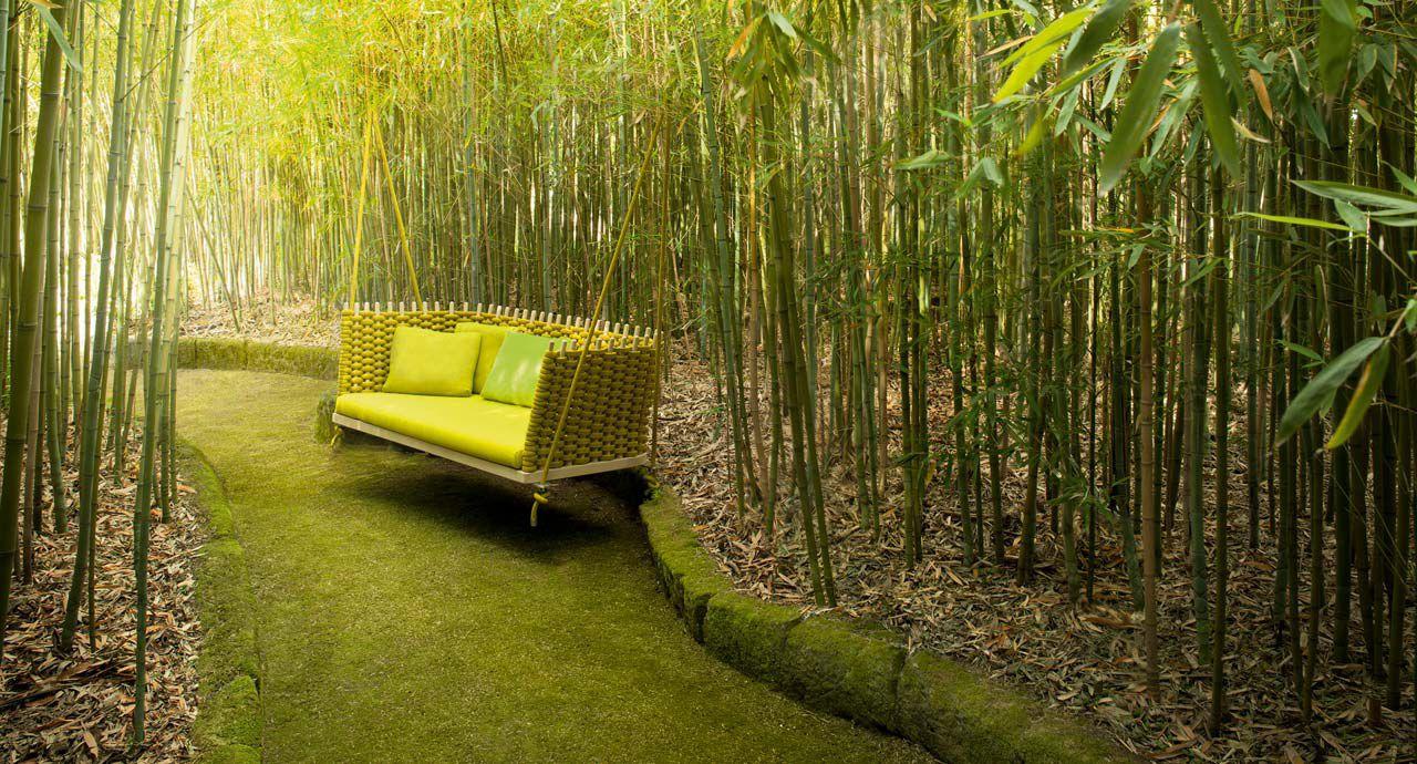 Dondolo Da Giardino In Legno : Dondolo da giardino in legno in corda sospeso wabi by