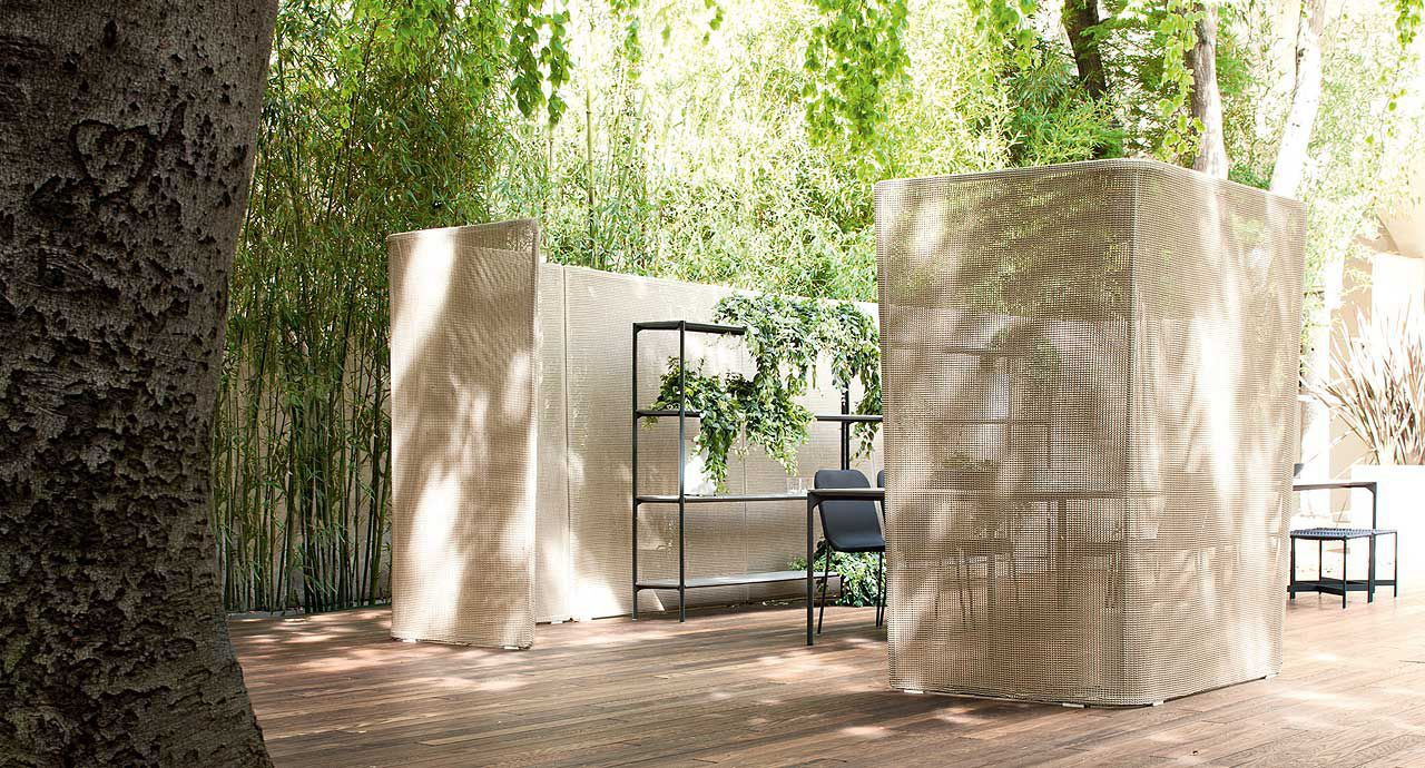Paravento moderno / in alluminio / da giardino - ABRI by Francesco ...