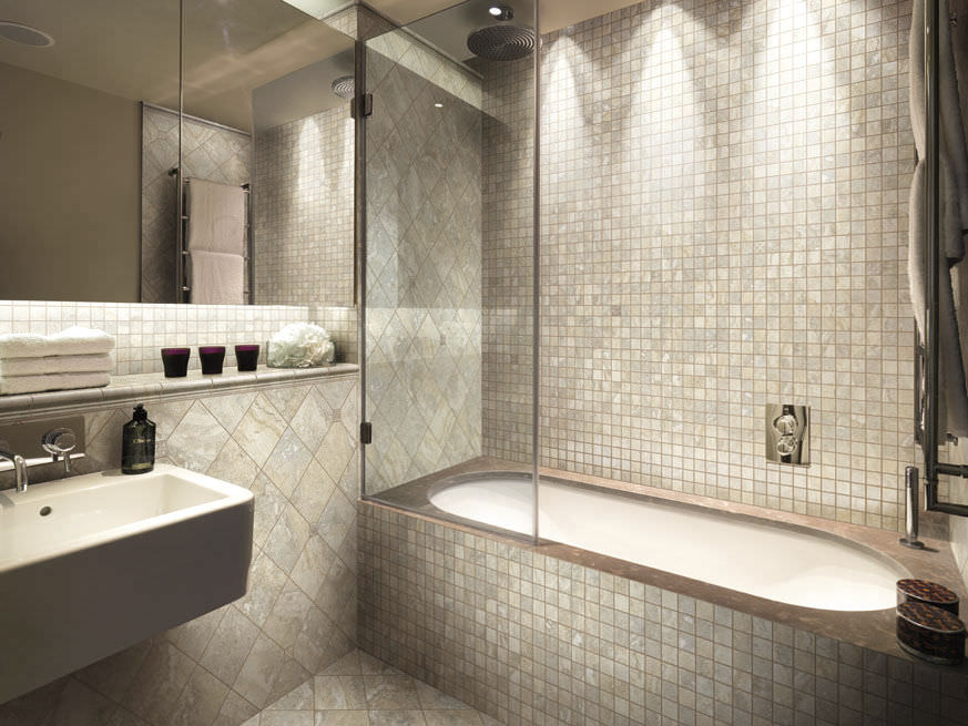 Mosaico da interno da bagno da parete in gres porcellanato