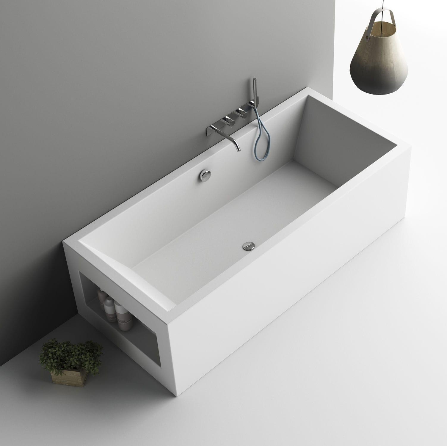Vasca da bagno da appoggio / in Corian® - AQUARIUS - PLANIT - Video