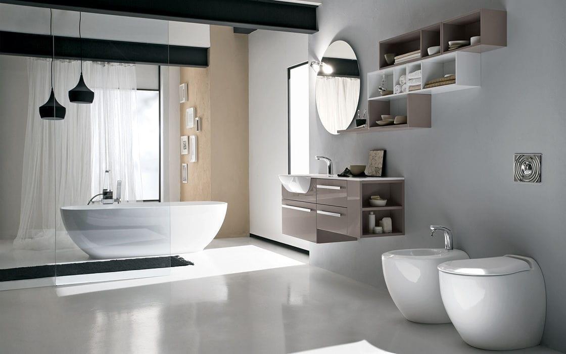 Bagno moderno / in legno / in laminato - PROGRAMMA CORONA - RAB ...