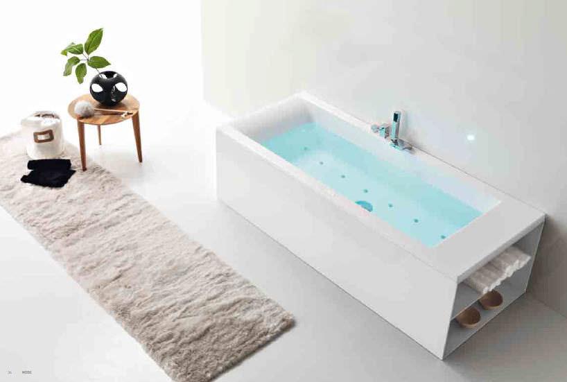 Vasca Da Bagno Hafro : Vasca da bagno in acrilico con armadietto integrato