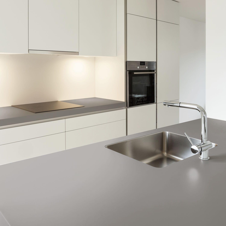 Piano di lavoro in composito / da cucina / beige / grigio - VENTUS ...