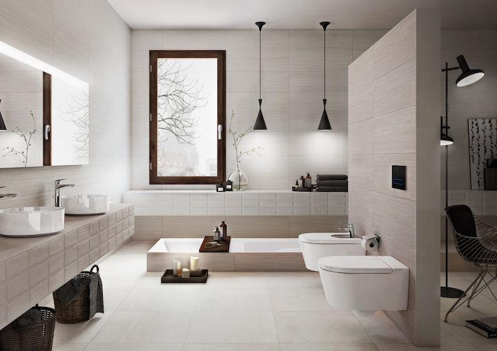 Piastrella da bagno da parete in gres porcellanato cm